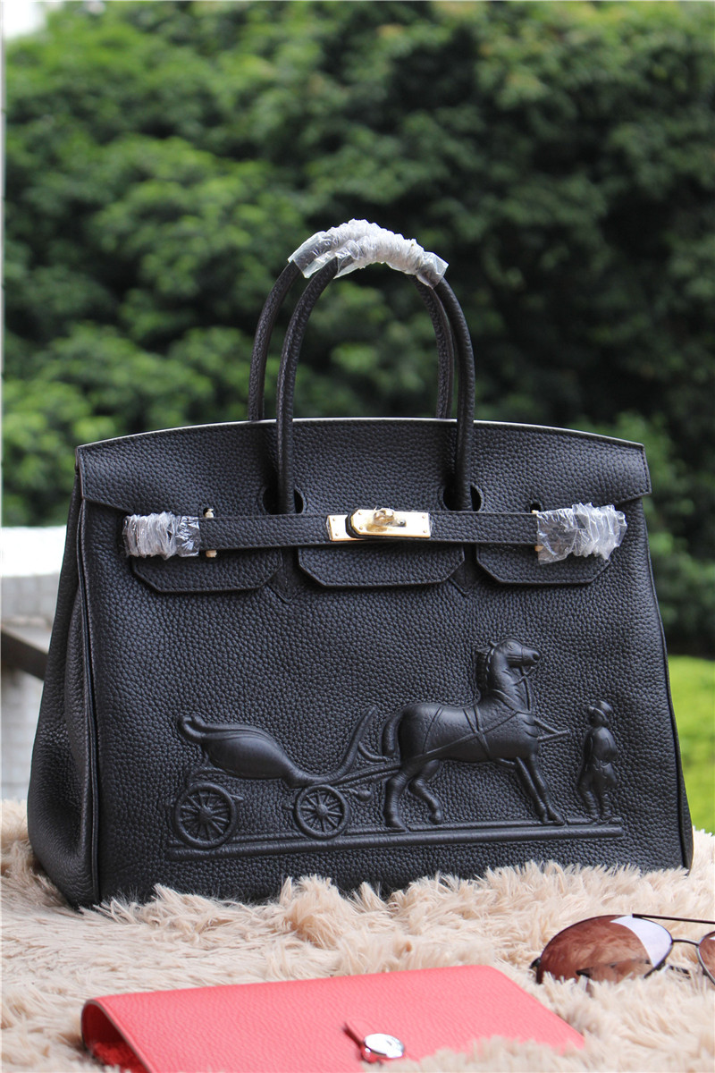 Hermes Birkin Horse Togo Leather Black 35cm