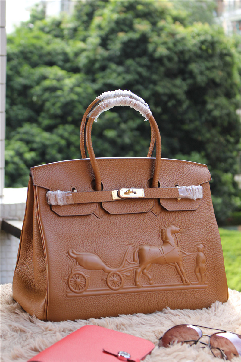Hermes Birkin Horse Togo Leather Brown 35cm