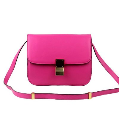 Celine Clasp Classic Box Medium Bag Rose