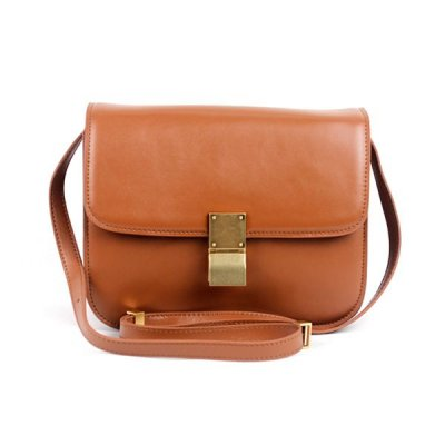 Celine Clasp Classic Box Medium Bag Apricot