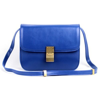 Celine Clasp Classic Box Medium Bag Blue
