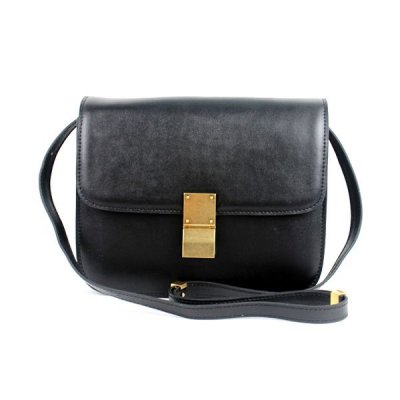 Celine Clasp Classic Box Medium Bag Black